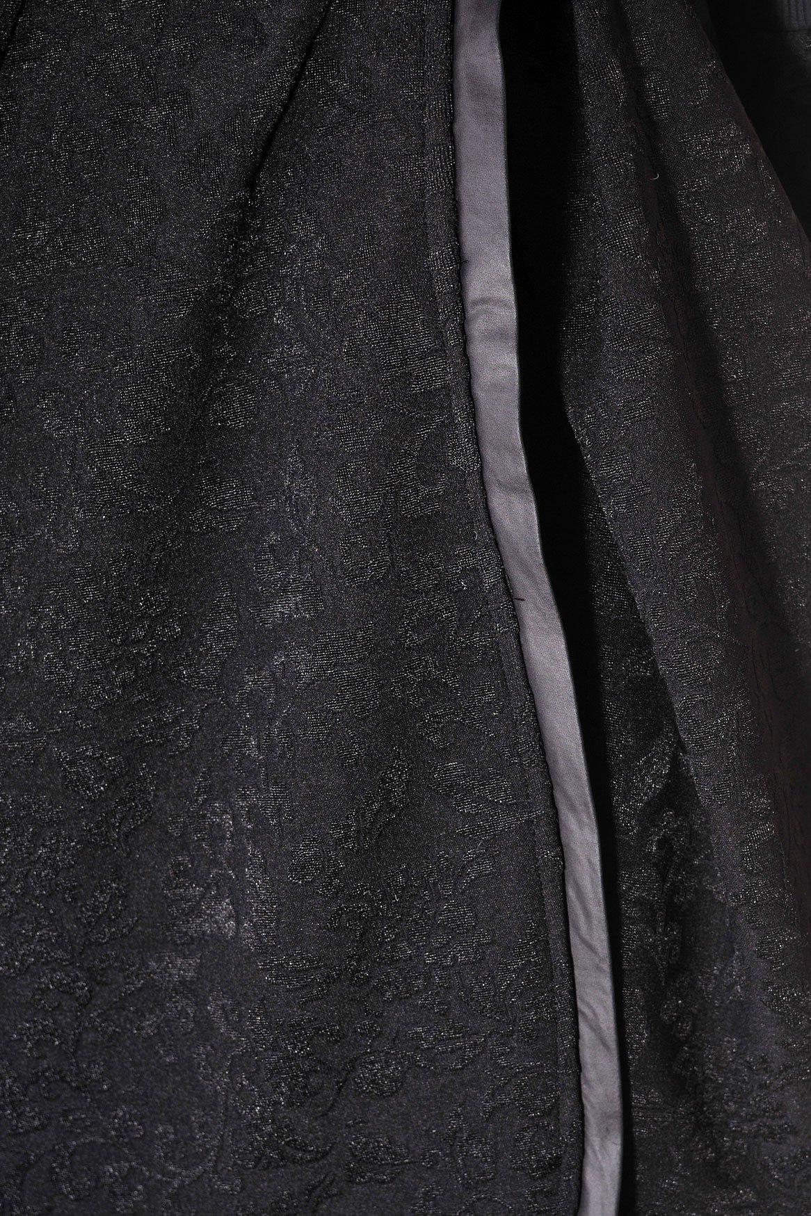 черно палто пончо с вата
