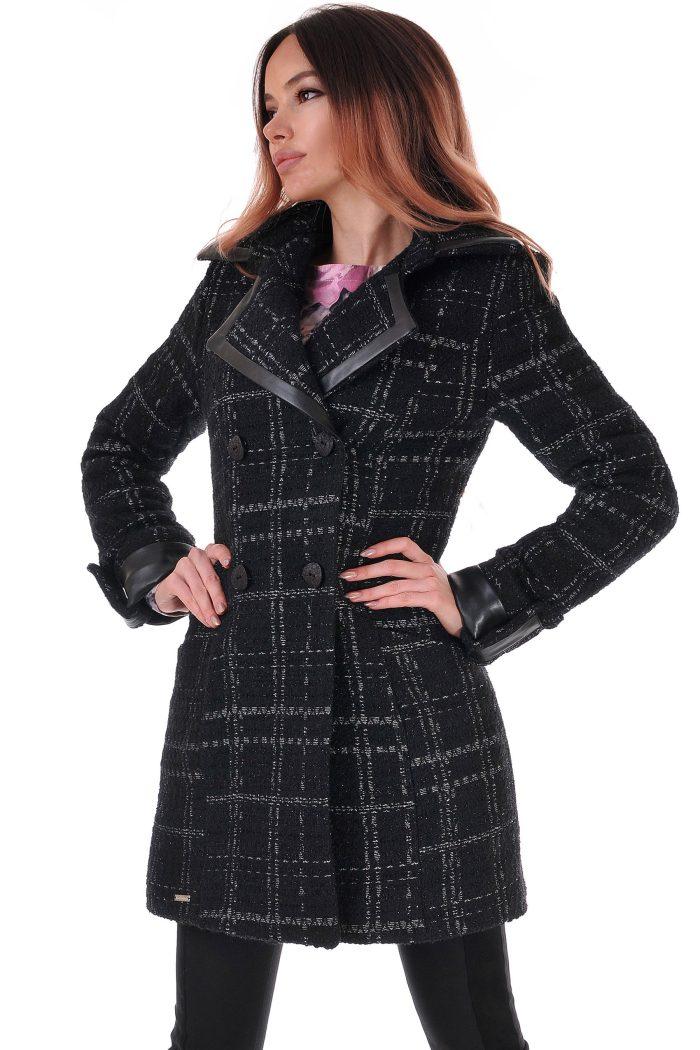 палто черно
