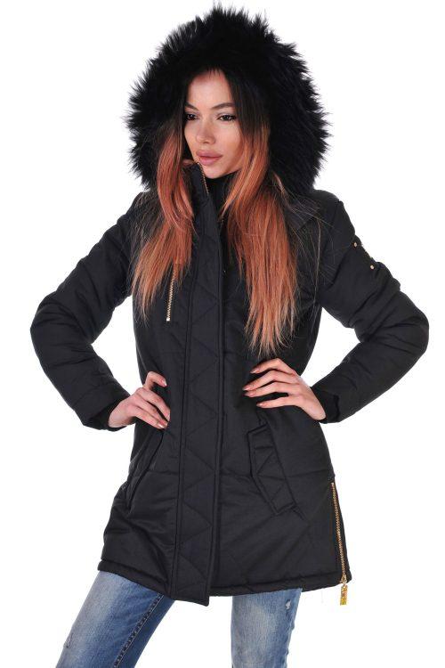 палто черно зимно