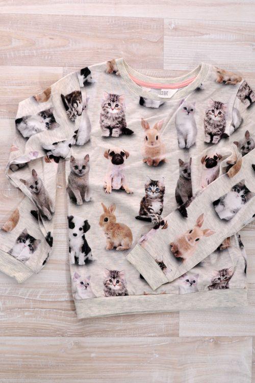 блузка с котки