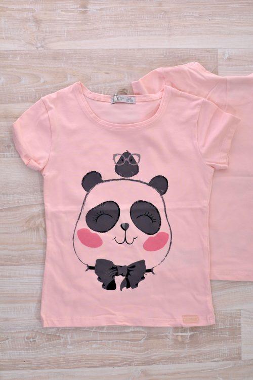 блузка розова с панда