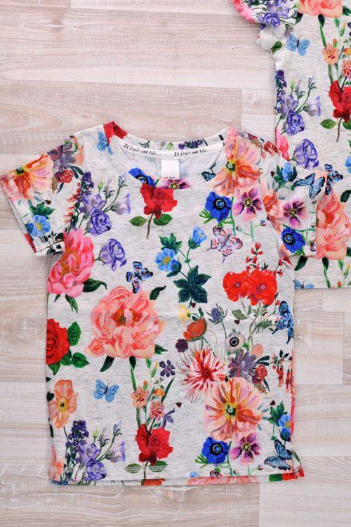 блузка на цветя