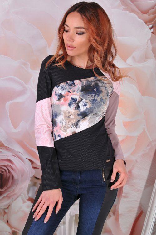 многоцветна блуза пинко