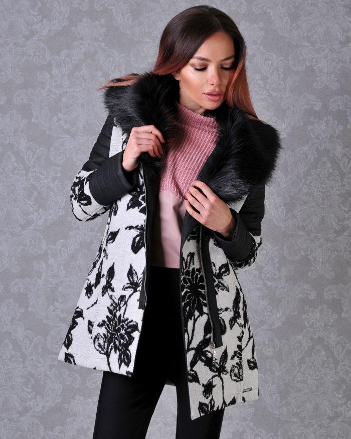дамско палто на цветя