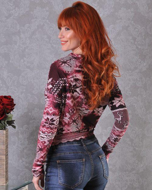 женска блузка с дълги ръкави