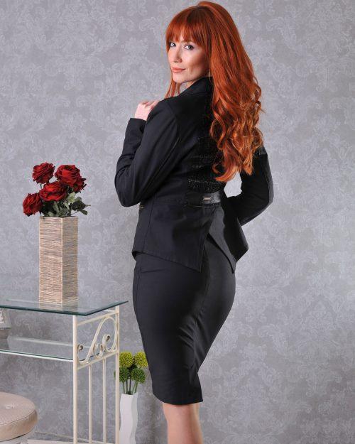 черно сако и пола бг