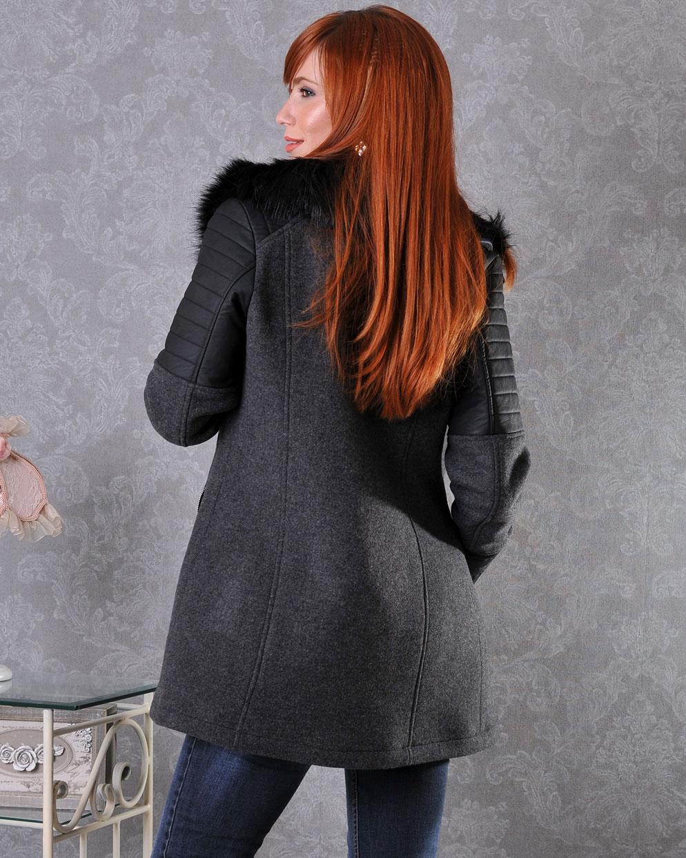 палто с пух