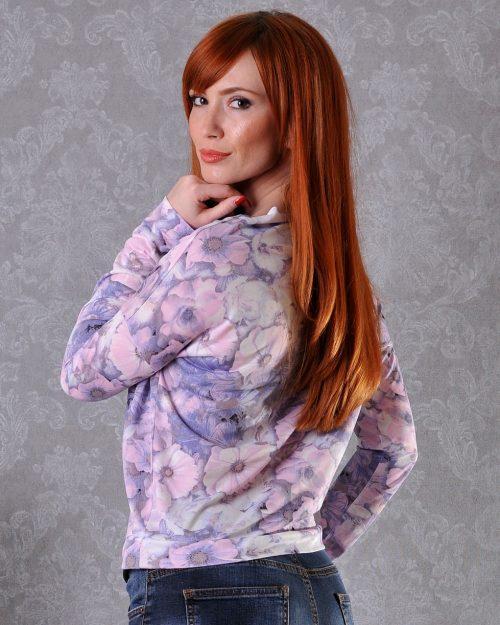 женска лилава блуза