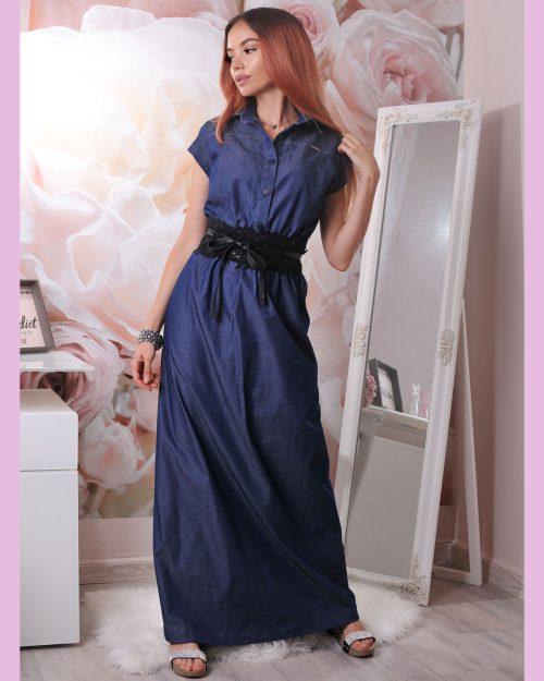 рокля дълга дънкова