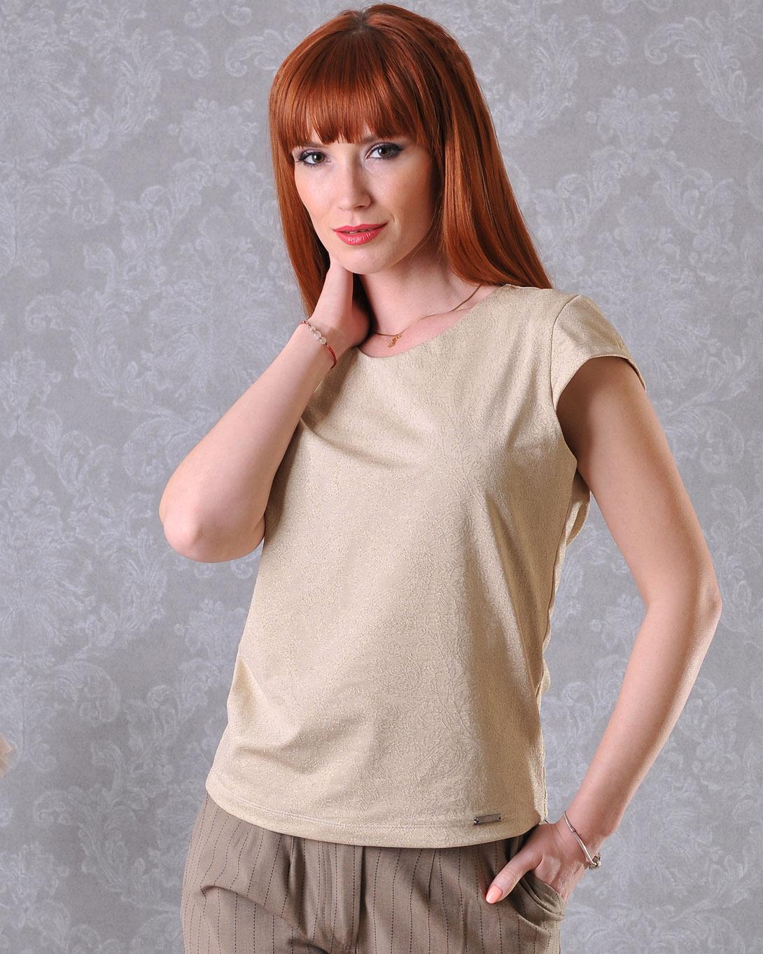 блуза с обло деколте